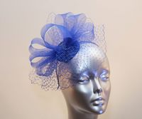 Small royal blue ladies' fascinator 16358/SD606